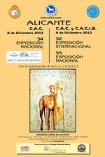 54 Exposición canina nacional e 32  internacional en Alicante CACIB 2012