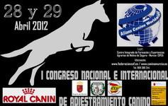 I CONGRESO NACIONAL E INTERNACIONAL DE ADIESTRAMIENTO CANINO 2012