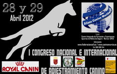 congreso canino adiestramiento 2012