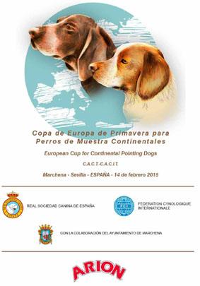 Copa de europa de primavera para perros de muestra continentales