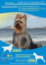 58 y 59 Exposición Nacional y 24 Exposición Intercacional Canina de Vigo 2011