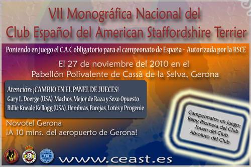VII monografica nacional del club Español del American Staffordshire terr