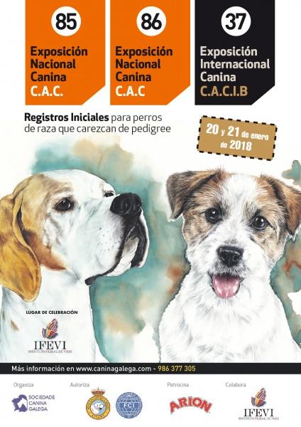 Exposición Nacional Canina en Vigo el 20 y 21 de enero de 2018